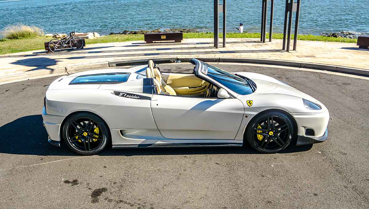 Ferrari F1 Spider 02 Driver Side Exclusive Events Hire